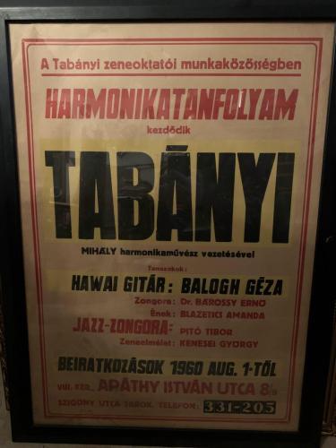 Tabányi zeneiskola plakát