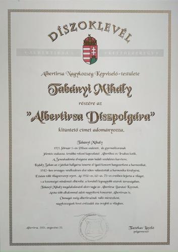 Albertirsa Díszpolgára