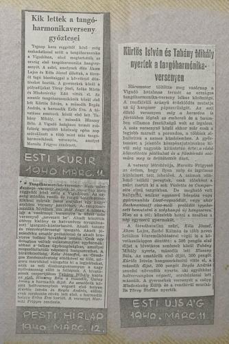 Újságcikkek 1940
