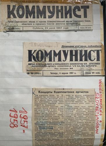 Szovjet újságcikk